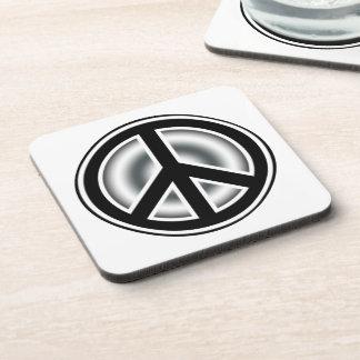 Vintage peace symbol drink coaster