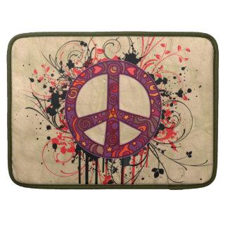 VINTAGE PEACE SYMBOL MacBook PRO SLEEVES
