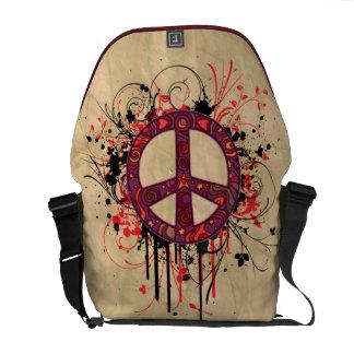 VINTAGE PEACE SYMBOL MESSENGER BAG