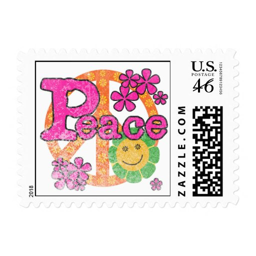Vintage Peace T-shirts and Gifts Stamps