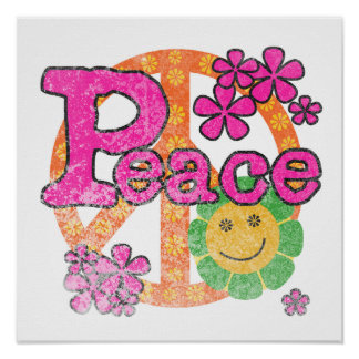 Vintage Peace T-shirts and Gifts Poster