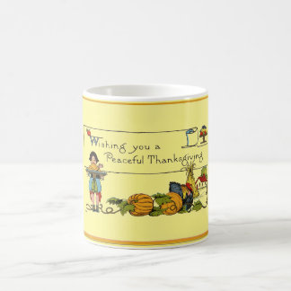 Vintage Peaceful Thanksgiving Coffee Mug