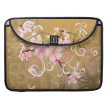 Vintage Peach Blossoms Rickshaw Flap Sleeve Sleeves For MacBooks
