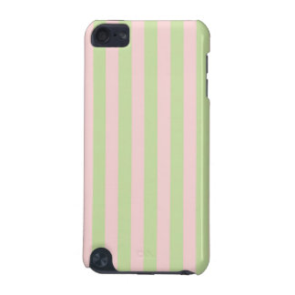 Vintage Peach Green Stripes Pattern iPod Touch (5th Generation) Covers