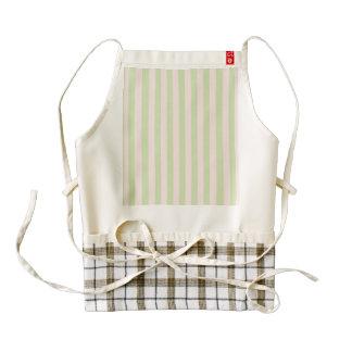 Vintage Peach Green Stripes Pattern Zazzle HEART Apron