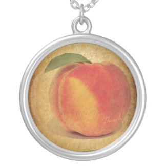 Vintage Peach Silver Plated Necklace