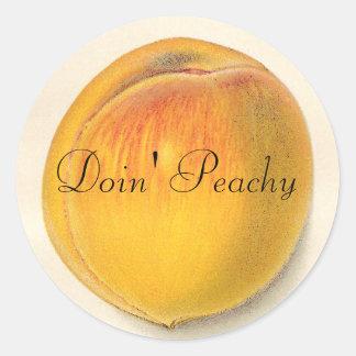 Vintage Peach Stickers