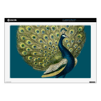 "Vintage Peacock 17"" Laptop Decal"