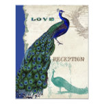 Vintage Peacock 5 - Formal Wedding Invitation