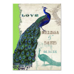 "Vintage Peacock 5 - Formal Wedding Invitation 4.5"" X 6.25"" Invitation Card"