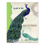 "Vintage Peacock 5 - Formal Wedding Invitation 4.25"" X 5.5"" Invitation Card"