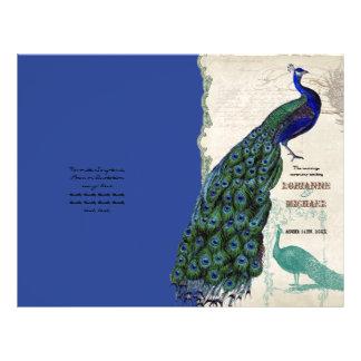 Vintage Peacock 5 - Formal Wedding Program Flyer