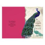 Vintage Peacock 5 - Formal Wedding Program Custom Flyer