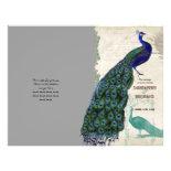 Vintage Peacock 5 - Formal Wedding Program Full Color Flyer