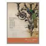 Vintage Peacock 6 - Elegant Wedding Program Flyer