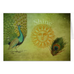 Vintage Peacock Art Collage Card