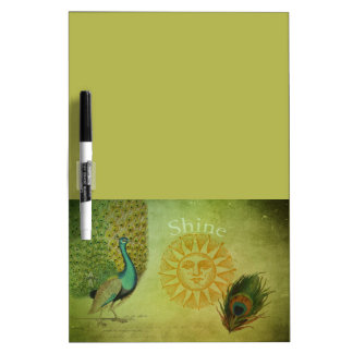 Vintage Peacock Art Collage Dry-Erase Whiteboards