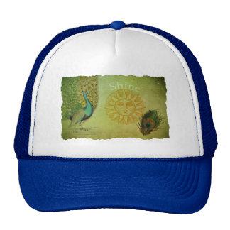 Vintage Peacock Art Collage Trucker Hat