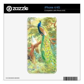 Vintage Peacock Art iPhone 4S Decals