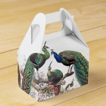 Vintage Peacock Birds Wildlife Animals Favor Box