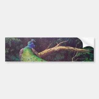Vintage Peacock Bumper Sticker
