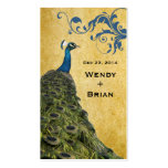 Vintage Peacock Double-Sided Standard Business Cards (Pack Of 100)
