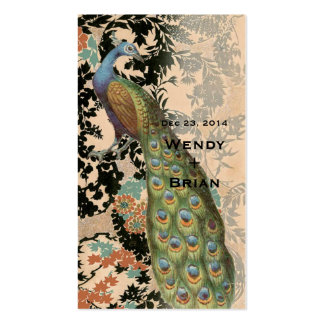 Vintage Peacock Business Card Templates