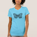 Vintage Peacock Butterfly Personalized Butterflies Tee Shirts