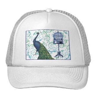 Vintage Peacock & Cage Trucker Hat