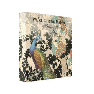 Vintage Peacock Canvas Print