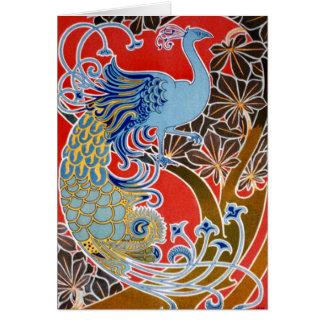 Vintage Peacock Card