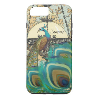 Vintage  Peacock Chandeliers and Feathers iPhone 7 Plus Case