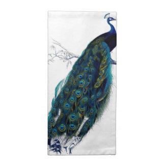 Vintage Peacock Cloth Napkins