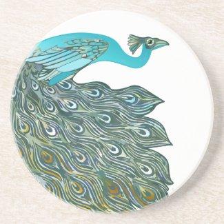 Vintage Peacock Coasters coaster