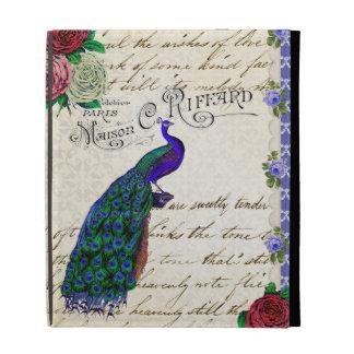 Vintage Peacock Collage ipad 1 /2/ 3 case iPad Folio Case