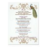 Vintage Peacock & Etching Wedding Game I Spy White Card