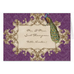 Vintage Peacock & Etchings Table Seating Cards