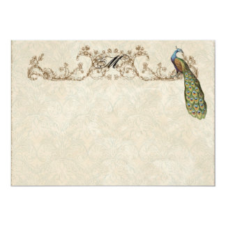 Vintage Peacock & Etchings Thank You Note Cards