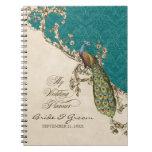 Vintage Peacock & Etchings Wedding Planner Journal Notebooks