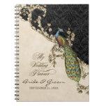 Vintage Peacock & Etchings Wedding Planner Journal Notebook