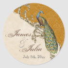 Vintage Peacock & Etchings  Wedding Seal