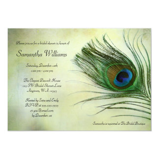 Peacock Bridal Shower Invitations Announcements Zazzle