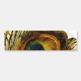 Vintage Peacock Feather Bumper Sticker