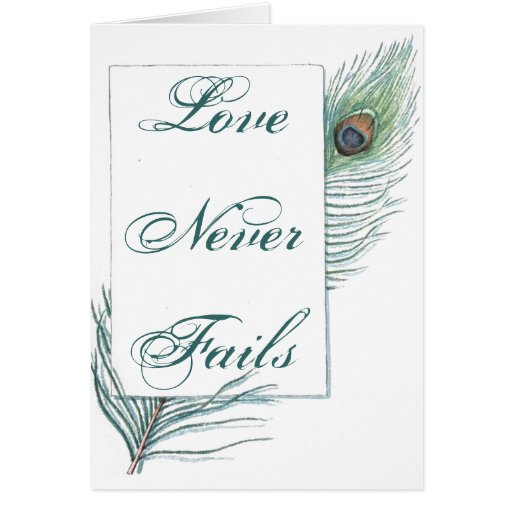 Vintage Peacock Feather Inspirational Love Quote Card Zazzle