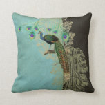 Vintage Peacock Feathers Etchings - Kitchen Decor Pillow