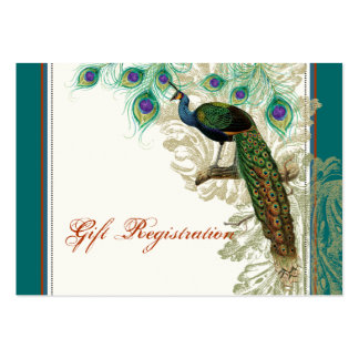 Vintage Peacock, Feathers - Gift Registration Card Business Card