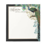 Vintage Peacock, Feathers n Etchings Swirl Antique Note Pads