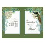 Vintage Peacock, Feathers - Wedding Program Personalized Flyer