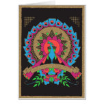 Vintage Peacock for Spring Gold Card