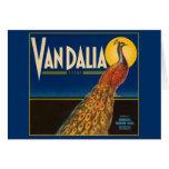 Vintage Peacock Fruit Crate Label Card